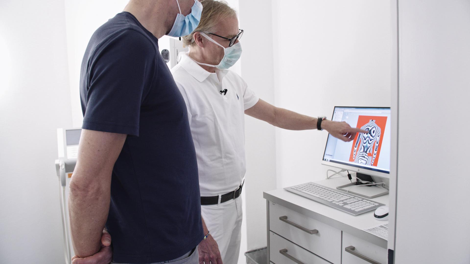 3D-Wirbelsäulenstativermessung im Rahmen der Funkionsdiagnostik