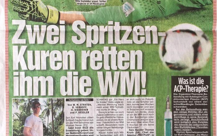 erfolgreiche ACP-Therapie bei Manuel Neuer