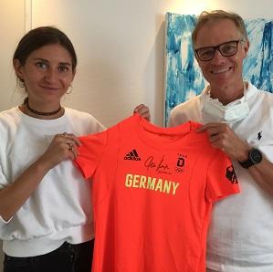 Leichtathletin und Olympia-Teilnehmerin Gesa Kraus zu Besuch