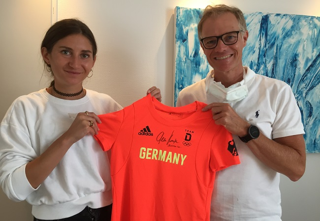 Leistungssportlerin Gesa Krause zu Besuch bei uns