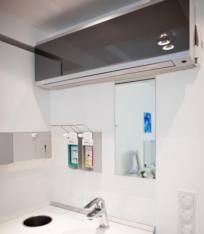 Raumlüfter von Samsung - Teil des Hygiene-Konzept in der Praxis von Dr. Enneper