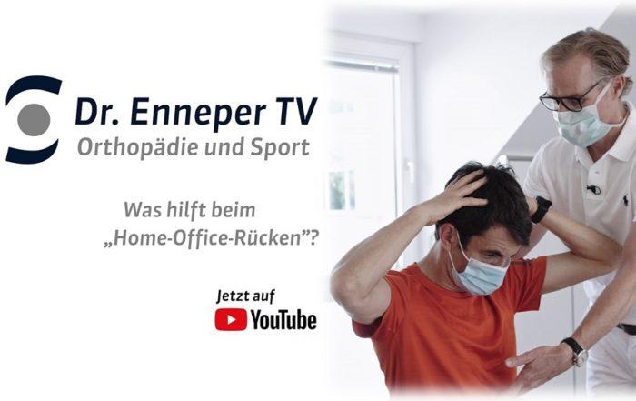 """Dr Enneper TV: Dreh des YouTube-Tutorials """"Home-Office-Rücken"""""""