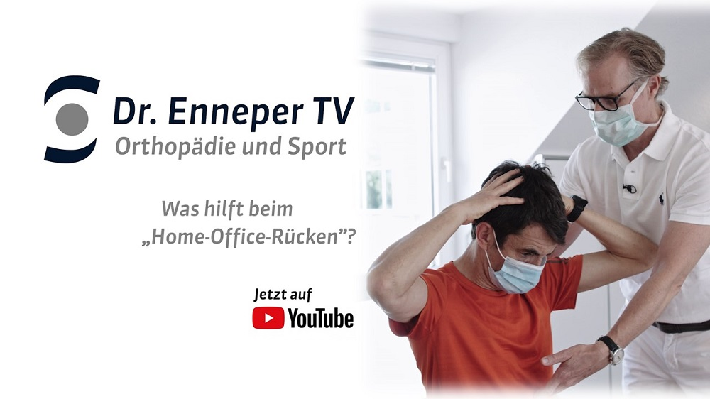 "Dr Enneper TV: Dreh des YouTube-Tutorials ""Home-Office-Rücken"""
