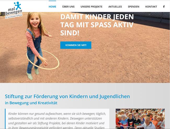 neue Website der Stiftung mal bewegen
